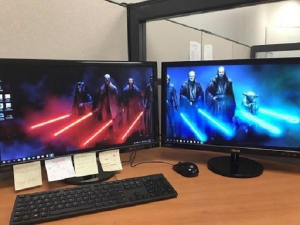 Ghép các màn hình lại với nhau để có thể sử dụng cùng lúc 2 màn hình